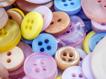 Round apparel buttons Stock Image