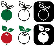 Round apple Stock Photography