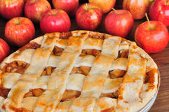 Round apple pie Royalty Free Stock Images