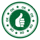 Round aprobaty OK ikonę lub symbol Obraz Royalty Free