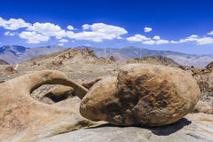 Round arch, Alabama Hills, Sierra Nevada. Alabama Hills are a range of hills and rock formations near the eastern slope of the Sierra Nevada Mountains in the stock photos