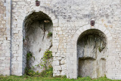 Round arches of a castle Stock Photo