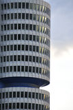 Round architecture - detail. Detail of a round office building early in the morning – modern architecture stock photos