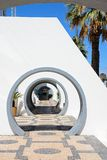 Round archways, Vilamoura. Stock Photo