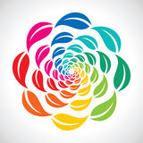 Round arrangement of colorful leaf Royalty Free Stock Photo