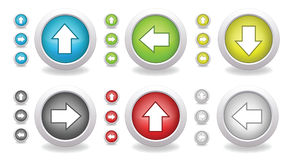 Round arrow buttons Royalty Free Stock Photography