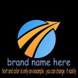 Round arrow logo vector. Sample icon round arrow logo vector Stock Photos