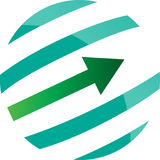 Round arrow raising concept Stock Photography