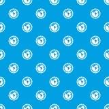 Round arrows around world planet pattern seamless blue Royalty Free Stock Image