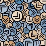 Round arrows seamless pattern. Stock Photos
