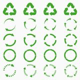 Round arrows set. Green circle recycle icons collections. Vector. Round arrows set. Green circle recycle icons collections. Vector illustration Stock Photo