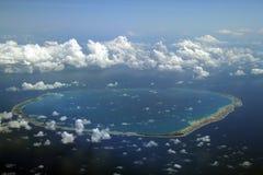 Round atoll Stock Photo