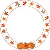 Round Autumn and Pumpkin border. royalty free illustration