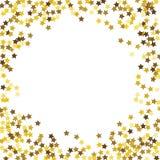 Round błyskotliwości złota rama Zdjęcia Royalty Free