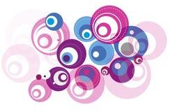Round bąbla wzór Royalty Ilustracja