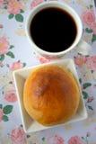 Round babeczka chleb zdjęcie stock