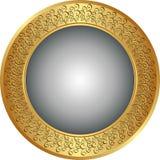 Round background. Round gold and gray background Stock Photo