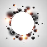 Round background with black 3d bubbles. Abstract round background with black 3d bubbles. Vector illustration Royalty Free Stock Photo