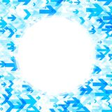 Round background with blue arrows. White round background with blue arrows pattern. Vector paper illustration Royalty Free Stock Photo