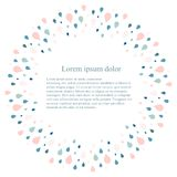 Round background with blue and pink rop water on white, Lorem Ipsum. Round background with blue and pink water drop on white, Lorem Ipsum stock vector Stock Photos