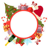Round background Christmas Royalty Free Stock Photos