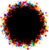 Round background with color rhombs. stock illustration