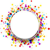 Round background with color rhombs. royalty free illustration