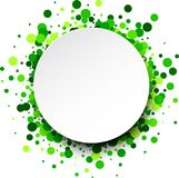 Round background with confetti. Stock Photos