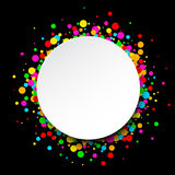 Round background with drops. Royalty Free Stock Photography