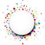Round background with drops. Stock Photography