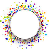 Round background with drops. Royalty Free Stock Image