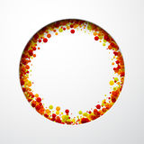 Round background with drops. Stock Photos