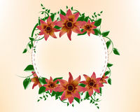 Round Background Frame Flower template design Royalty Free Stock Photos