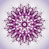 Round background with ink splatter Stock Images