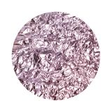 Round background with purple crumpled foil texture isolated on white. For your design stock photography