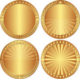 Round backgrounds. Set of round backgrounds with stars, crowns and laurel wreath Royalty Free Stock Images