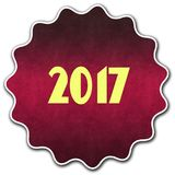 2017 round badge. Illustration graphic concept image Royalty Free Stock Photos