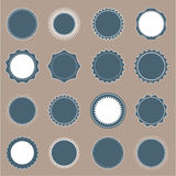 Round badges Stock Images