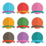 Round badges Royalty Free Stock Photos