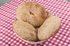 Round Bagels Royalty Free Stock Photos