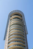 Round Balconies on Modern Condo Tower Stock Images
