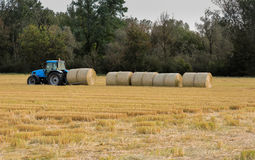 Round bale alignment Stock Photography