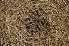 Round bale hay background Stock Photos