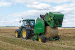 Round baler Stock Images