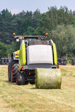 Round baler Stock Photo