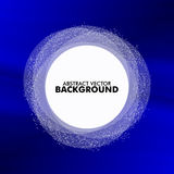 Round banner on a blue background Stock Photo