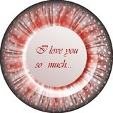 Round banner or button or greeting card Royalty Free Stock Photo