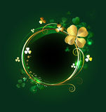 Round banner with clover Stock Photography