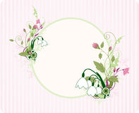 Round banner with floral ornament Royalty Free Stock Photo