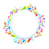 Round banner. Round frame composed of floral elements vector illustration